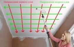 Как покрасить потолок водоэмульсионной краской без разводов видео