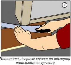 Как постелить ламинат своими руками — фото инструкция